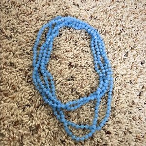 Blue Beaded Necklace (32-33 inches)